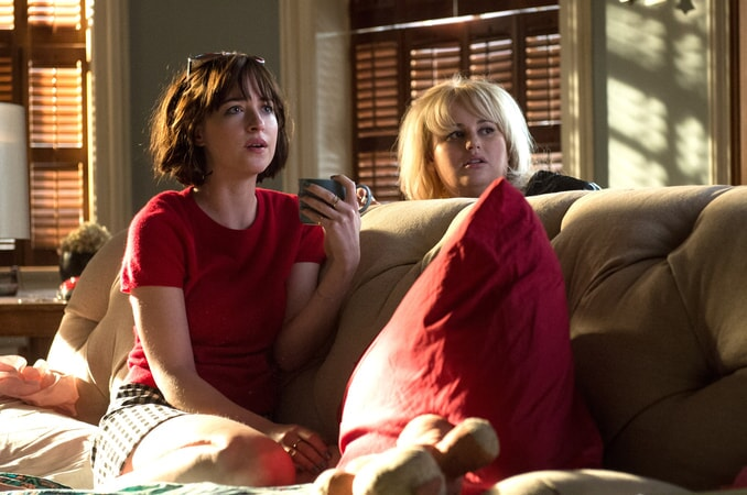 "DAKOTA JOHNSON as Alice, LESLIE MANN as Meg and REBEL WILSON as Robin in New Line Cinema's, Metro-Goldwyn-Mayer Pictures' and Flower Films' comedy ""HOW TO BE SINGLE,"" a Warner Bros. Pictures release."
