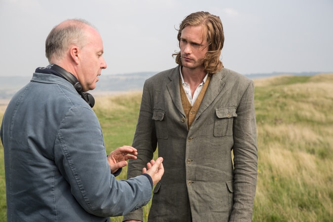Director DAVID YATES and ALEXANDER SKARSGÅRD behind the scenes on the set