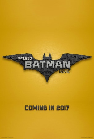 The LEGO Batman Movie poster 1: logo on a yellow LEGO background