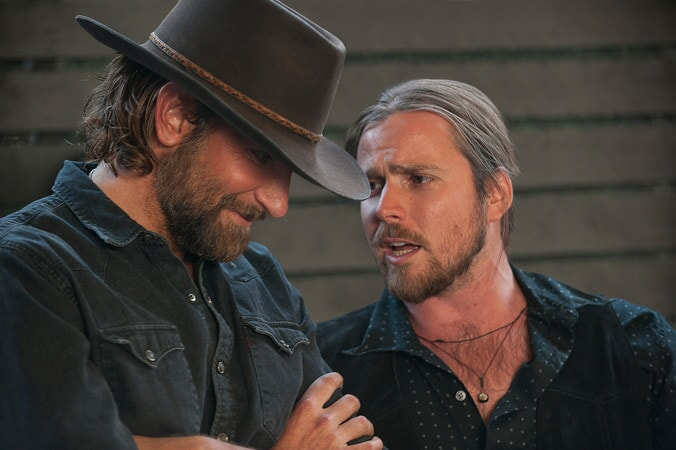 BRADLEY COOPER as Jack and LUKAS NELSON as guitarist