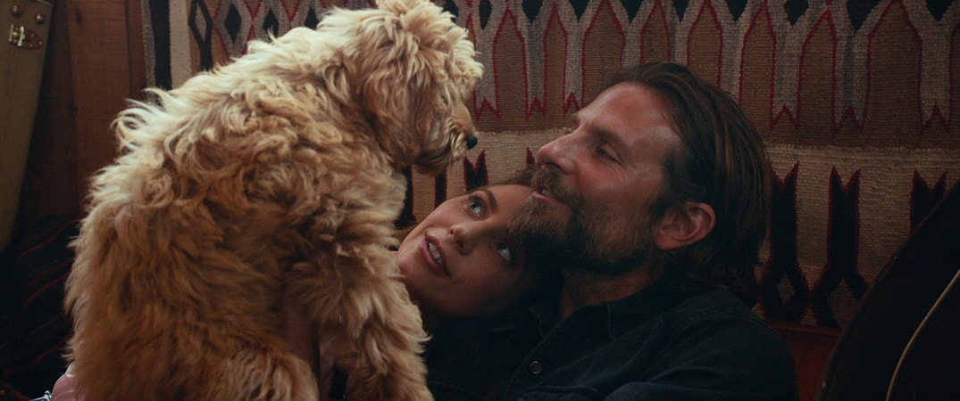 LADY GAGA as Ally and BRADLEY COOPER as Jack