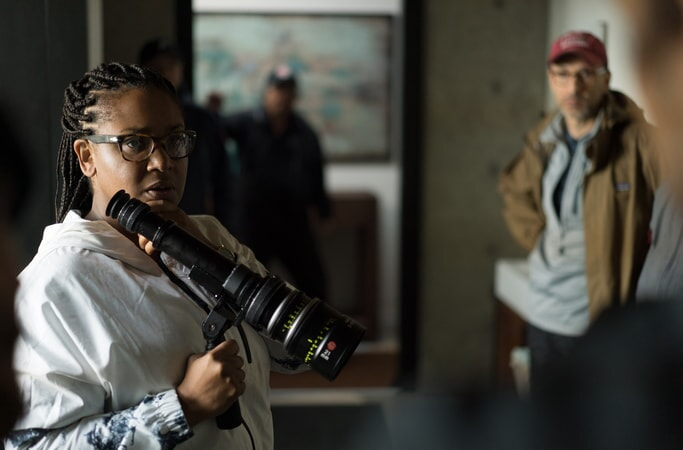 """Director STELLA MEGHIE on the set of the Warner Bros. Pictures and Metro-Goldwyn-Mayer Pictures romantic drama """"EVERYTHING, EVERYTHING,"""" a Warner Bros. Pictures release."""