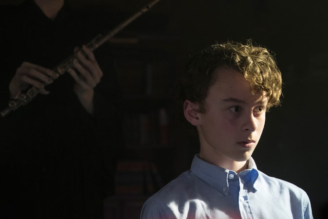 "WYATT OLEFF as Stanley Uris in New Line Cinema's horror thriller ""IT,"" a Warner Bros. Pictures release."