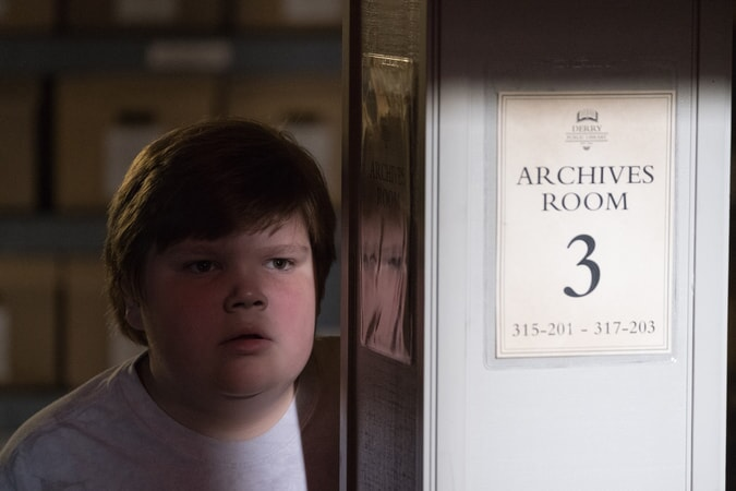 "JEREMY RAY TAYLOR as Ben Hanscom in New Line Cinema's horror thriller ""IT,"" a Warner Bros. Pictures release."