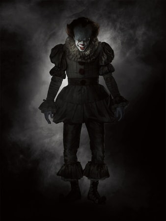 "BILL SKARSGÅRD as Pennywise in New Line Cinema's horror thriller ""IT,"" a Warner Bros. Pictures release."