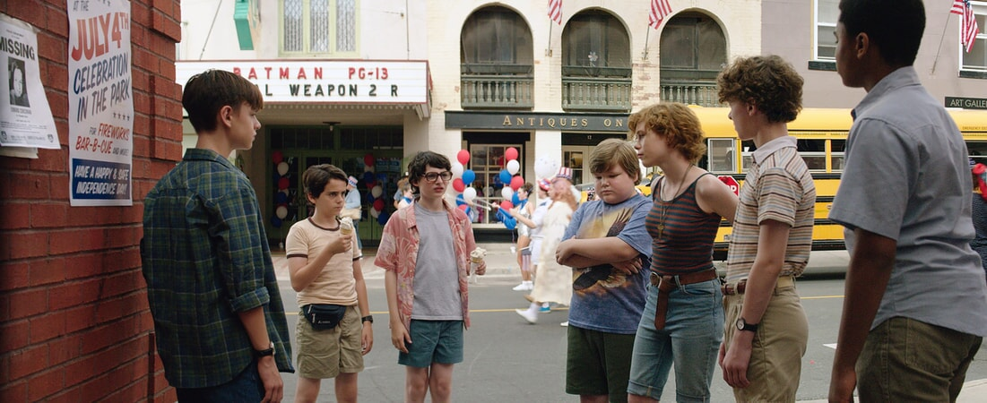 "JAEDEN LIEBERHER as Bill Denbrough, JACK DYLAN GRAZER as Eddie Kaspbrak, FINN WOLFHARD as Richie Tozier, JEREMY RAY TAYLOR as Ben Hanscom, SOPHIA LILLIS as Beverly Marsh, WYATT OLEFF as Stanley Uris and CHOSEN JACOBS as Mike Hanlon in New Line Cinema's horror thriller ""IT,"" a Warner Bros. Pictures release."
