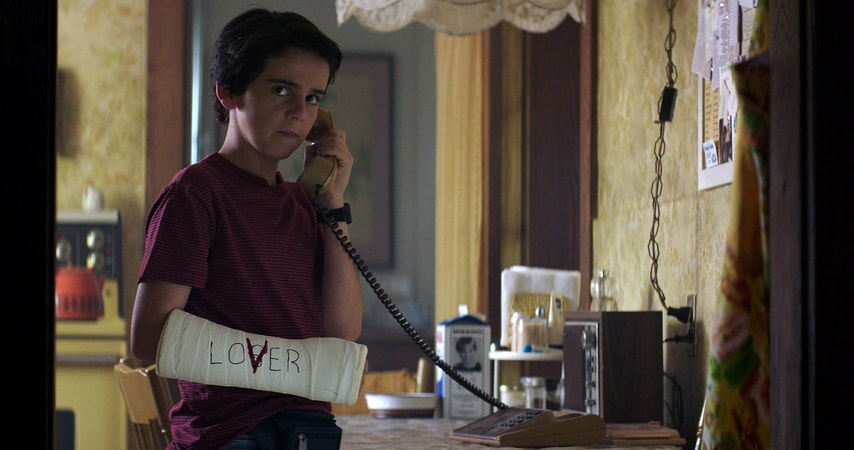"JACK DYLAN GRAZER as Eddie Kaspbrak in New Line Cinema's horror thriller ""IT,"" a Warner Bros. Pictures release."