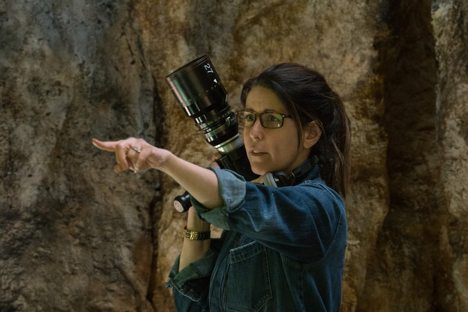 "Director PATTY JENKINS on the set of the action adventure ""WONDER WOMAN,"" a Warner Bros. Pictures release."