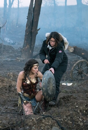Gal Gadot as Wonder Woman with director Patty Jenkins