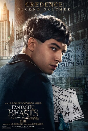Fantastic Beasts and Where to Find Them character poster: Credence