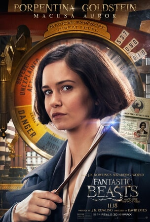 Fantastic Beasts and Where to Find Them character poster: Porpentina Goldstein
