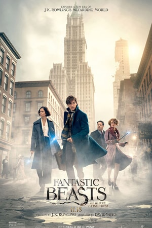 Fantastic Beasts and Where to Find Them - Main Cast with city of New York behind them