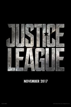 Justice League logo on black background