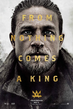 "Charlie Humman close-up as King Arthur with text that reads ""From Nothing Comes A King"""