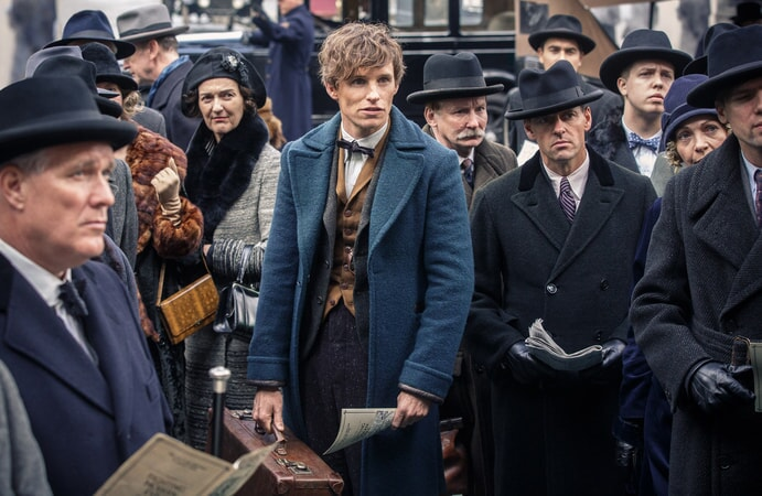 """EDDIE REDMAYNE as Newt Scamander in Warner Bros. Pictures' fantasy adventure """"FANTASTIC BEASTS AND WHERE TO FIND THEM,"""" a Warner Bros. Pictures release."""