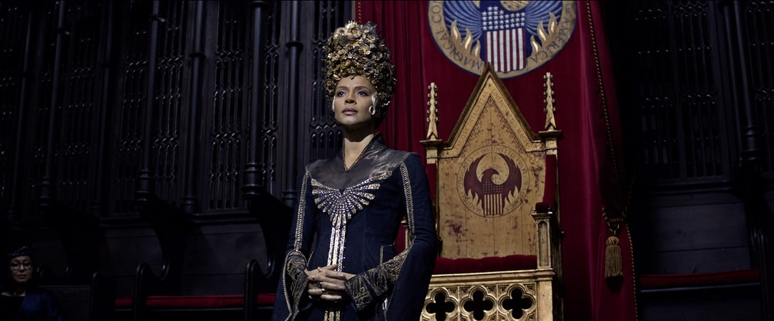 """CARMEN EJOGO as Seraphina Picquery in Warner Bros. Pictures' fantasy adventure """"FANTASTIC BEASTS AND WHERE TO FIND THEM,"""" a Warner Bros. Pictures release."""