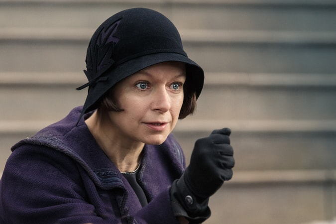 """SAMANTHA MORTON as Mary Lou Barebone in Warner Bros. Pictures' fantasy adventure """"FANTASTIC BEASTS AND WHERE TO FIND THEM,"""" a Warner Bros. Pictures release."""