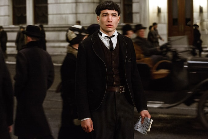 """EZRA MILLER as Credence Barebone in Warner Bros. Pictures' fantasy adventure """"FANTASTIC BEASTS AND WHERE TO FIND THEM,"""" a Warner Bros. Pictures release."""