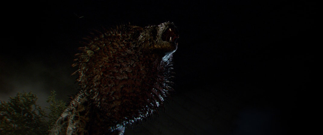 """A beast called a Nundu in a scene from Warner Bros. Pictures' fantasy adventure """"FANTASTIC BEASTS AND WHERE TO FIND THEM,"""" a Warner Bros. Pictures release."""