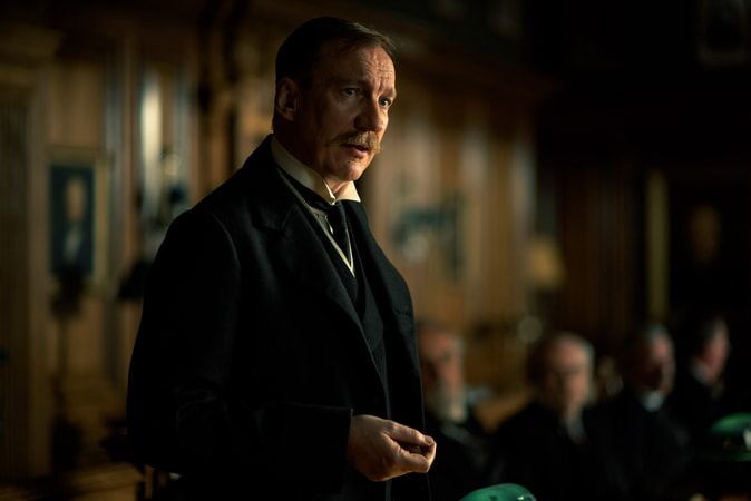 "DAVID THEWLIS as Sir Patrick in the action adventure ""WONDER WOMAN,"" a Warner Bros. Pictures release."