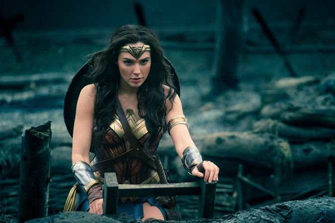 "GAL GADOT as Diana in the action adventure ""WONDER WOMAN,"" a Warner Bros. Pictures release."