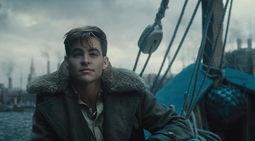 "CHRIS PINE as Steve Trevor in the action adventure ""WONDER WOMAN,"" a Warner Bros. Pictures release."