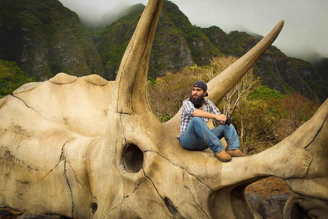 "Director JORDAN VOGT-ROBERTS on the set of Warner Bros. Pictures, Legendary Pictures and Tencent Pictures' action adventure ""KONG: SKULL ISLAND,"" a Warner Bros. Pictures release."