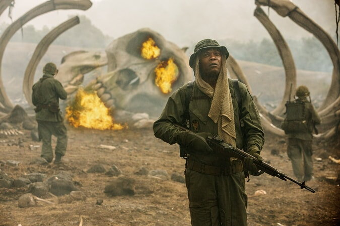 "SAMUEL L. JACKSON as Preston Packard in Warner Bros. Pictures', Legendary Pictures' and Tencent Pictures' action adventure ""KONG: SKULL ISLAND,"" a Warner Bros. Pictures release."