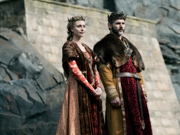 "POPPY DELEVIGNGE as Igraine and ERIC BANA as Uther in Warner Bros. Pictures' and Village Roadshow Pictures' fantasy action adventure ""KING ARTHUR: LEGEND OF THE SWORD,"" distributed worldwide by Warner Bros. Pictures and in select territories by Village Roadshow Pictures."