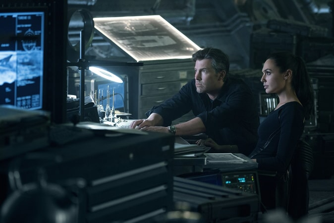 """BEN AFFLECK as Bruce Wayne and GAL GADOT as Diana Prince in Warner Bros. Pictures' action adventure """"JUSTICE LEAGUE,"""" a Warner Bros. Pictures release."""
