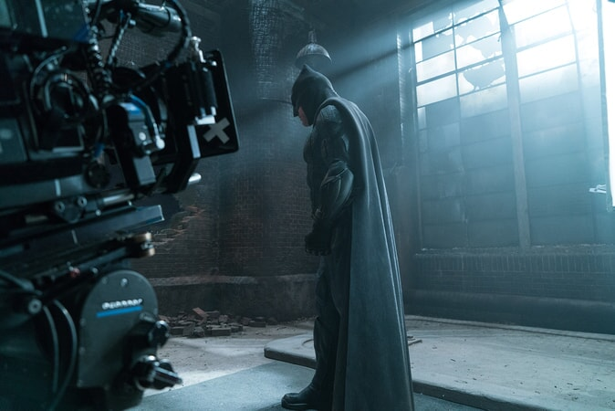 """BEN AFFLECK on the set of Warner Bros. Pictures' action adventure """"JUSTICE LEAGUE,"""" a Warner Bros. Pictures release."""
