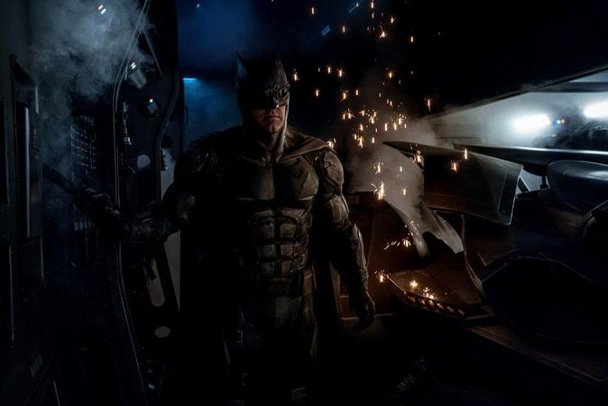 "BEN AFFLECK as Batman in Warner Bros. Pictures' action adventure ""JUSTICE LEAGUE,"" a Warner Bros. Pictures release."