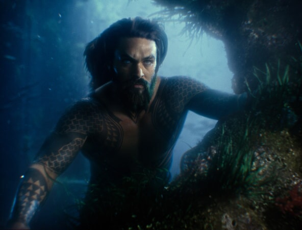 """JASON MOMOA as Aquaman in Warner Bros. Pictures' action adventure """"JUSTICE LEAGUE,"""" a Warner Bros. Pictures release."""