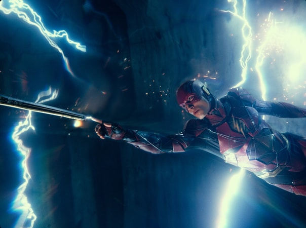 """EZRA MILLER as The Flash in Warner Bros. Pictures' action adventure """"JUSTICE LEAGUE,"""" a Warner Bros. Pictures release."""