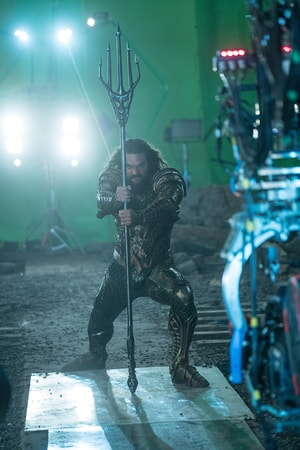 """JASON MOMOA on the set of Warner Bros. Pictures' action adventure """"JUSTICE LEAGUE,"""" a Warner Bros. Pictures release."""