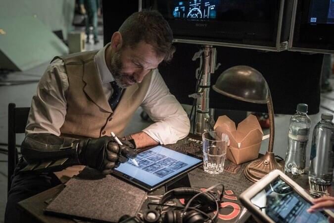 Zack Snyder on set