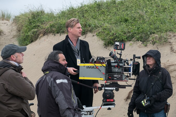 """Director/writer/producer CHRISTOPHER NOLAN on the set of the Warner Bros. Pictures action thriller """"DUNKIRK,"""" a Warner Bros. Pictures release."""