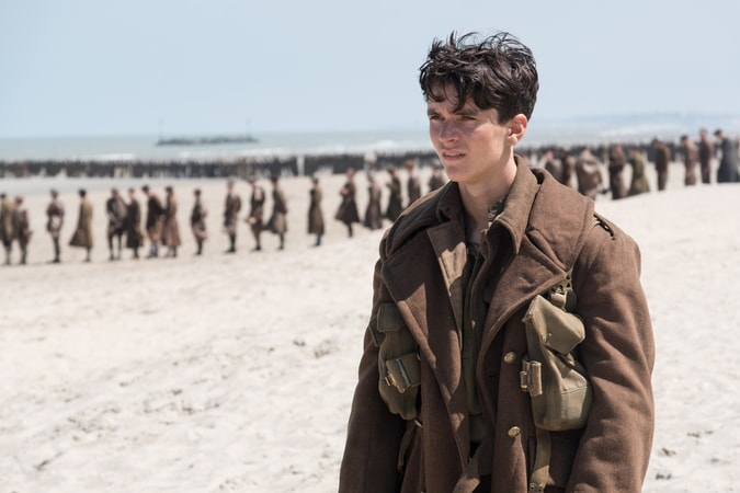"""FIONN WHITEHEAD in a scene from Christopher Nolan's new epic action thriller """"DUNKIRK,"""" a Warner Bros. Pictures release."""