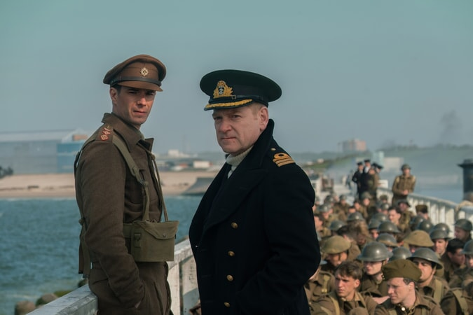 """JAMES D'ARCY as Colonel Winnant and KENNETH BRANAGH as Commander Bolton in the Warner Bros. Pictures action thriller """"DUNKIRK,"""" a Warner Bros. Pictures release."""