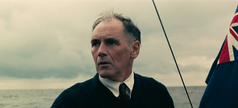"""MARK RYLANCE as Mr. Dawson in the Warner Bros. Pictures action thriller """"DUNKIRK,"""" a Warner Bros. Pictures release."""