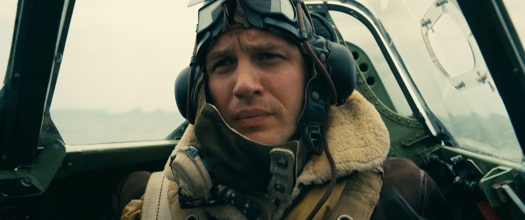 """TOM HARDY as Farrier in the Warner Bros. Pictures action thriller """"DUNKIRK,"""" a Warner Bros. Pictures release."""