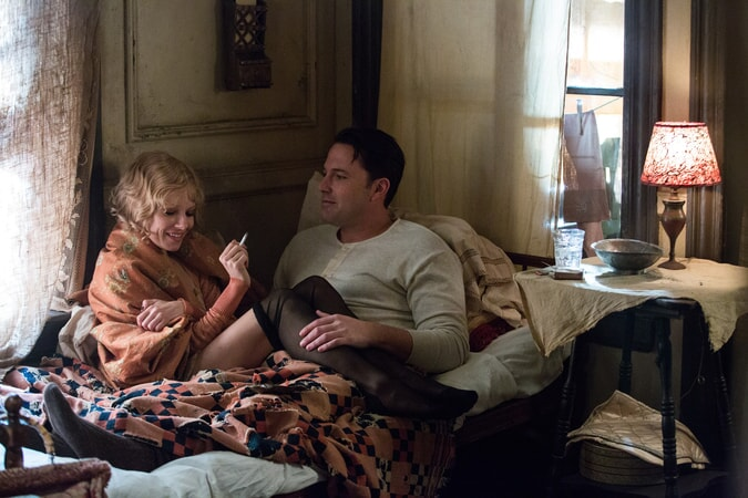 """SIENNA MILLER as Emma Gould and BEN AFFLECK as Joe Coughlin in Warner Bros. Pictures' dramatic crime thriller """"LIVE BY NIGHT,"""" a Warner Bros. Pictures release."""