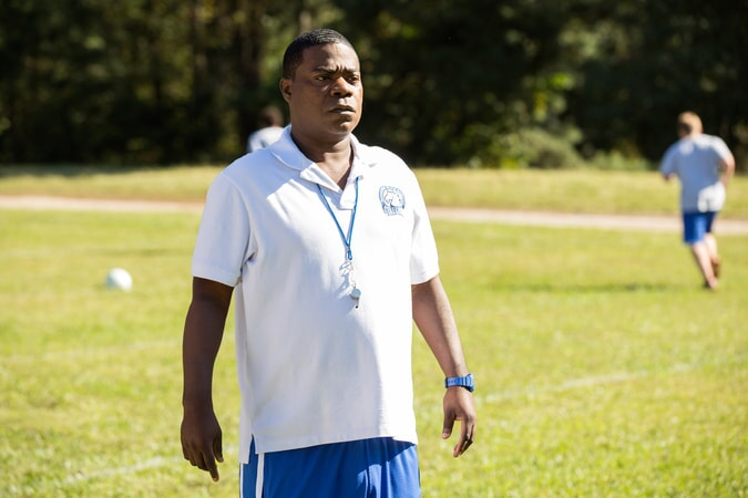 "TRACY MORGAN as Coach Crawford in the New Line Cinema and Village Roadshow Pictures comedy ""FIST FIGHT,"" a Warner Bros. Pictures release."