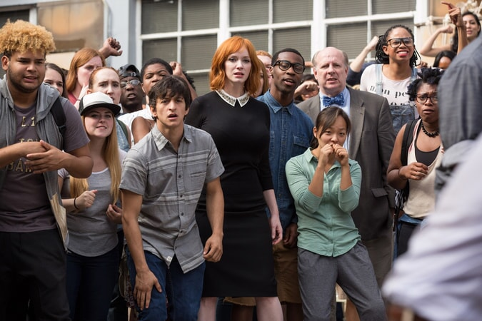 "CHRISTINA HENDRICKS as Ms. Monet in the New Line Cinema and Village Roadshow Pictures comedy ""FIST FIGHT,"" a Warner Bros. Pictures release."