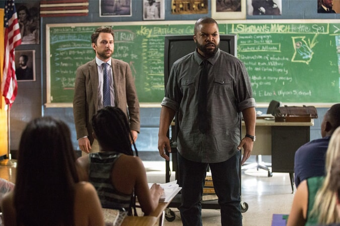 "CHARLIE DAY as Andy Campbell and ICE CUBE as Strickland in the New Line Cinema and Village Roadshow Pictures comedy ""FIST FIGHT,"" a Warner Bros. Pictures release."