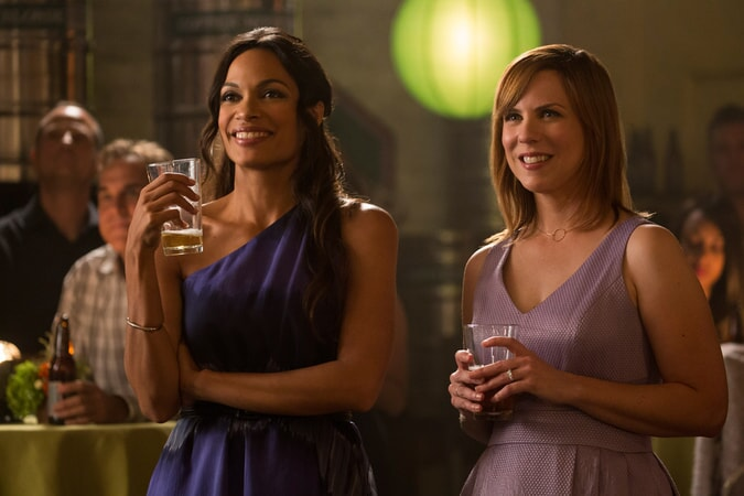 """ROSARIO DAWSON as Julia Banks and SARAH BURNS as Sarah in Warner Bros. Pictures' dramatic thriller """"UNFORGETTABLE,"""" a Warner Bros. Pictures release."""