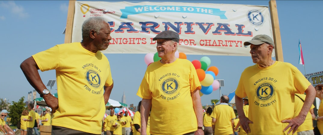 "MORGAN FREEMAN as Willie Davis, MICHAEL CAINE as Joe Harding and ALAN ARKIN as Albert Garner in the New Line Cinema and Village Roadshow comedy ""GOING IN STYLE,"" a Warner Bros. Pictures release."