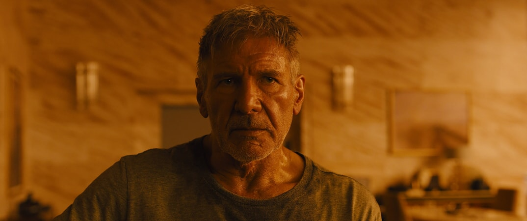 "HARRISON FORD as Rick Deckard in Alcon Entertainment's sci fi thriller ""BLADE RUNNER 2049,"" a Warner Bros. Pictures and Sony Pictures Entertainment release, domestic distribution by Warner Bros. Pictures and international distribution by Sony Pictures."