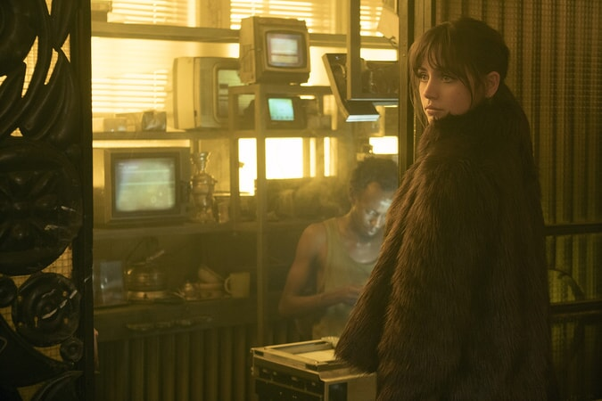 "ANA DE ARMAS as Joi in Alcon Entertainment's action thriller ""BLADE RUNNER 2049,"" a Warner Bros. Pictures and Sony Pictures Entertainment release, domestic distribution by Warner Bros. Pictures and international distribution by Sony Pictures."