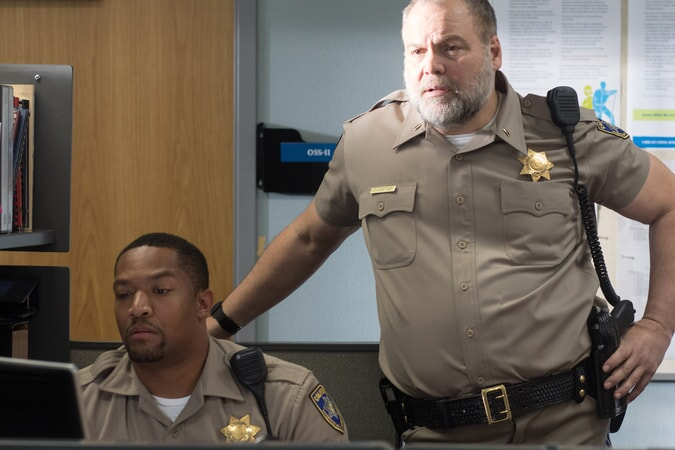 """PHIL TYLER as Cooper and VINCENT D'ONOFRIO as Ray Kurtz in Warner Bros. Pictures' action comedy """"CHIPS,"""" a Warner Bros. Pictures release."""